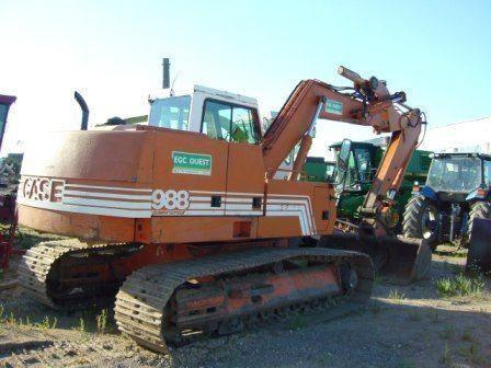 CASE 988 escavadora de lagartas