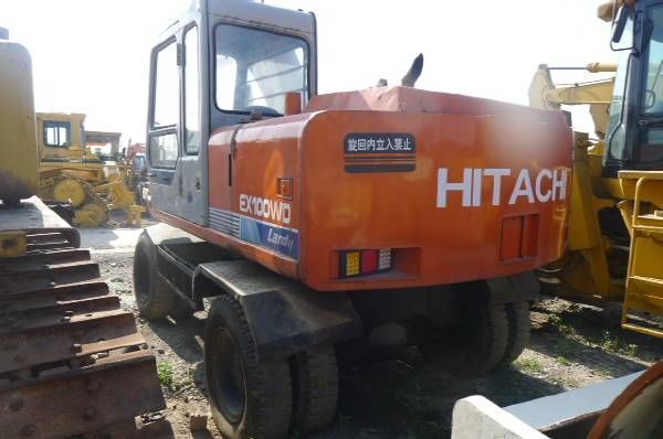 HITACHI EX100WD escavadora de rodas