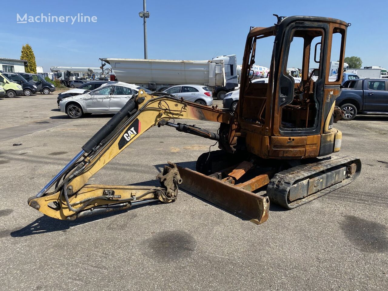 mini-escavadora CATERPILLAR 303.5C *ACCIDENTE*DAMAGED*UNFALL* acidentados