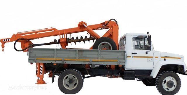 BKM ZU Burilno-kranovaya mashina BKM-3U na avtomobilyah GAZ 33081 («Sa outros equipamentos de construção