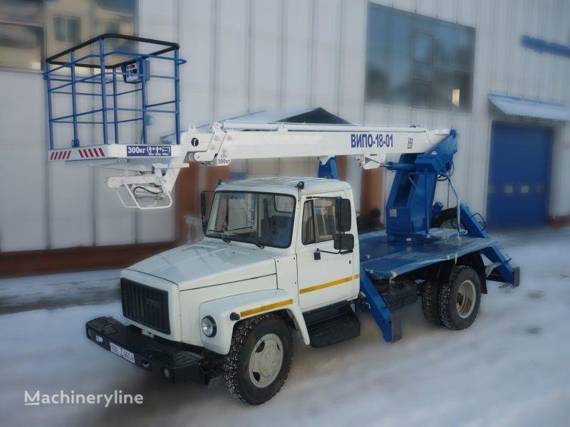 GAZ 3309 plataforma sobre camião