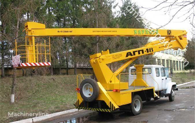 GAZ Avtogidropodemnik AGP-18 (Avtovyshka) plataforma sobre camião