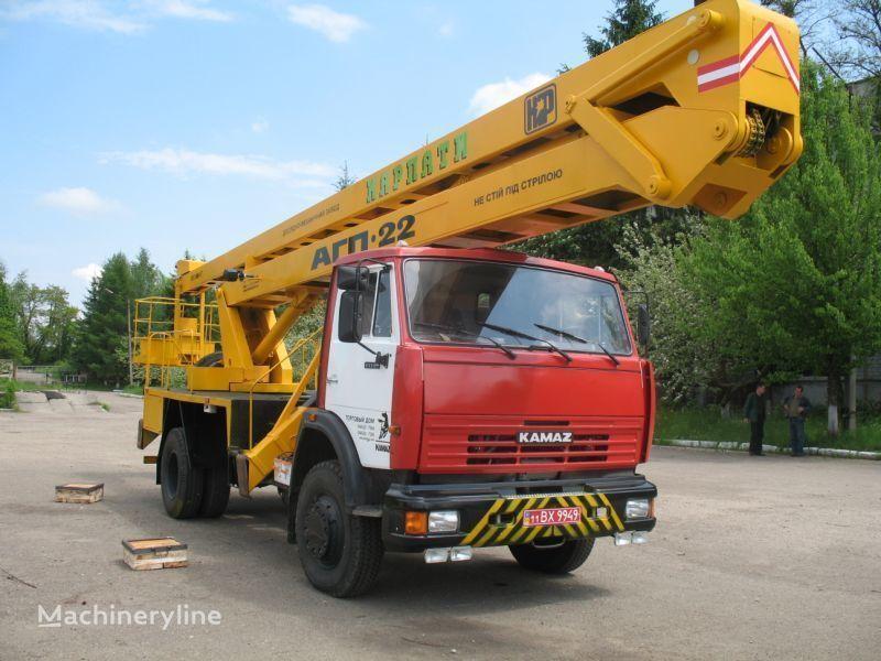 KAMAZ Avtogidropodemnik AGP-22 (Avtovyshka) plataforma sobre camião