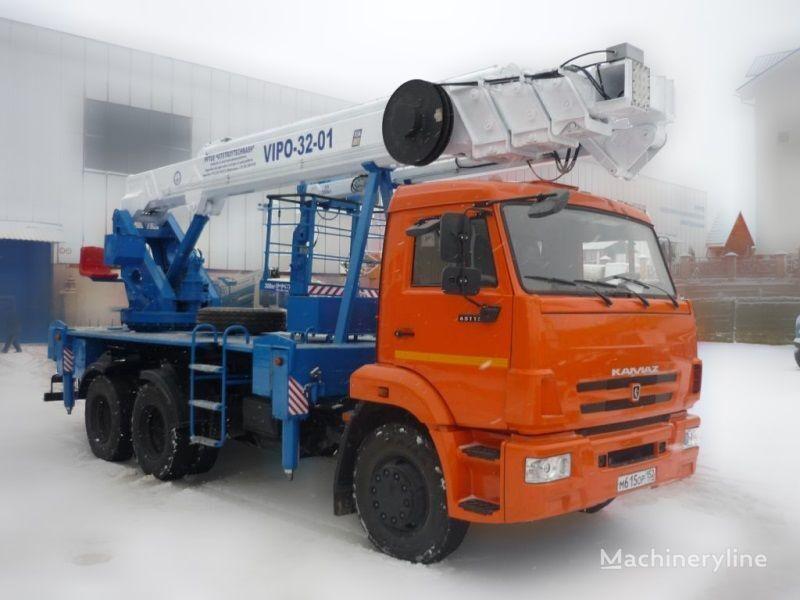 KAMAZ VIPO-32  plataforma sobre camião
