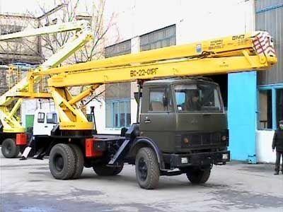 KAMAZ VS—22-01  plataforma sobre camião
