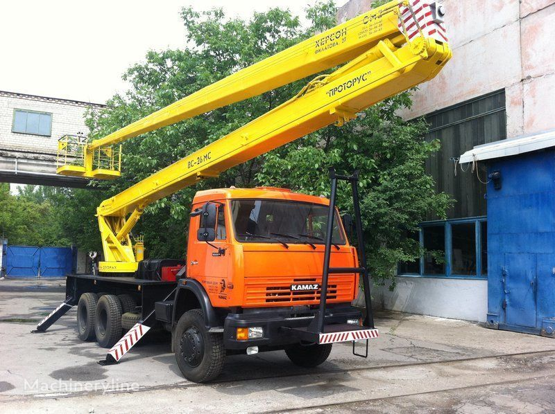 KAMAZ VS—26  plataforma sobre camião