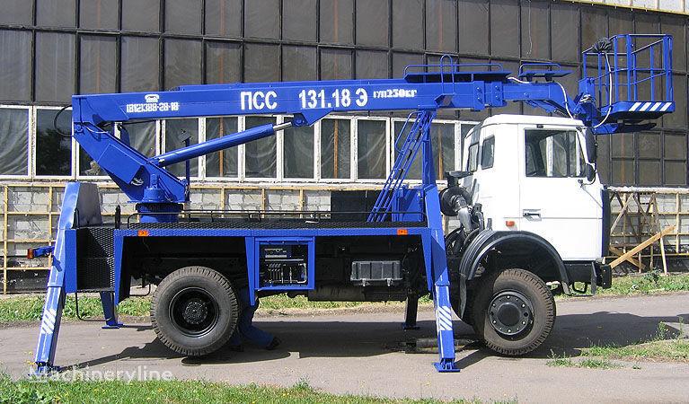 MAZ 5337A2 plataforma sobre camião