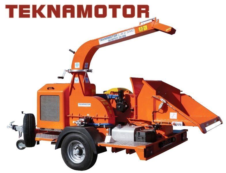 TEKNAMOTOR Skorpion 350 SDB triturador de madeira novo