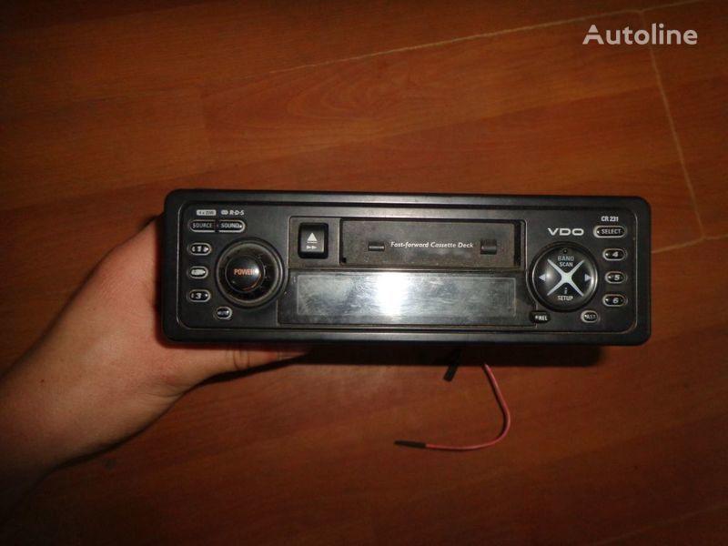 VDO CR231 12V auto-rádio para camião