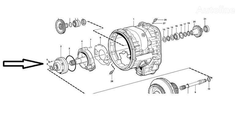 VOLVO Pompa VOE11145264 caixa de velocidades para VOLVO  L180E carregadeira de rodas nova