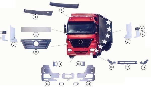 MERCEDES-BENZ 9437500518 capota para MERCEDES-BENZ ACTROS MP2 camião novo