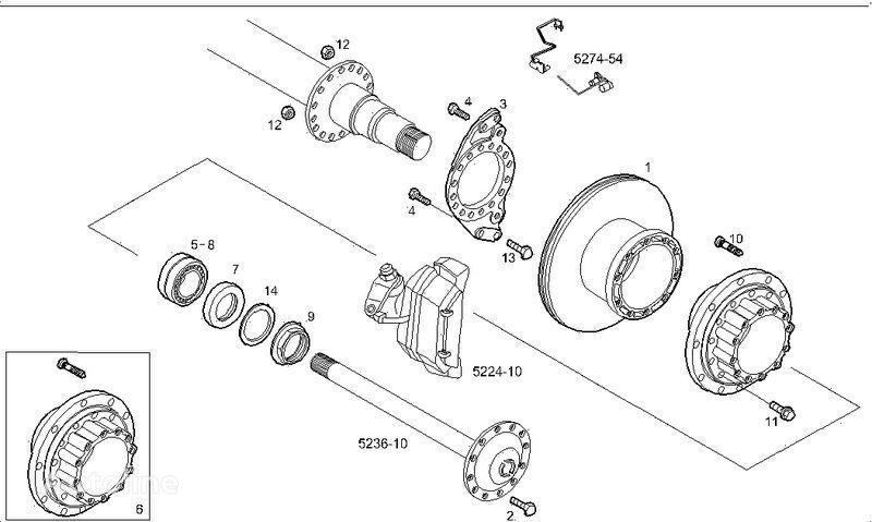 IVECO cubo de roda para IVECO STRALIS EURO STAR EURO TECH camião