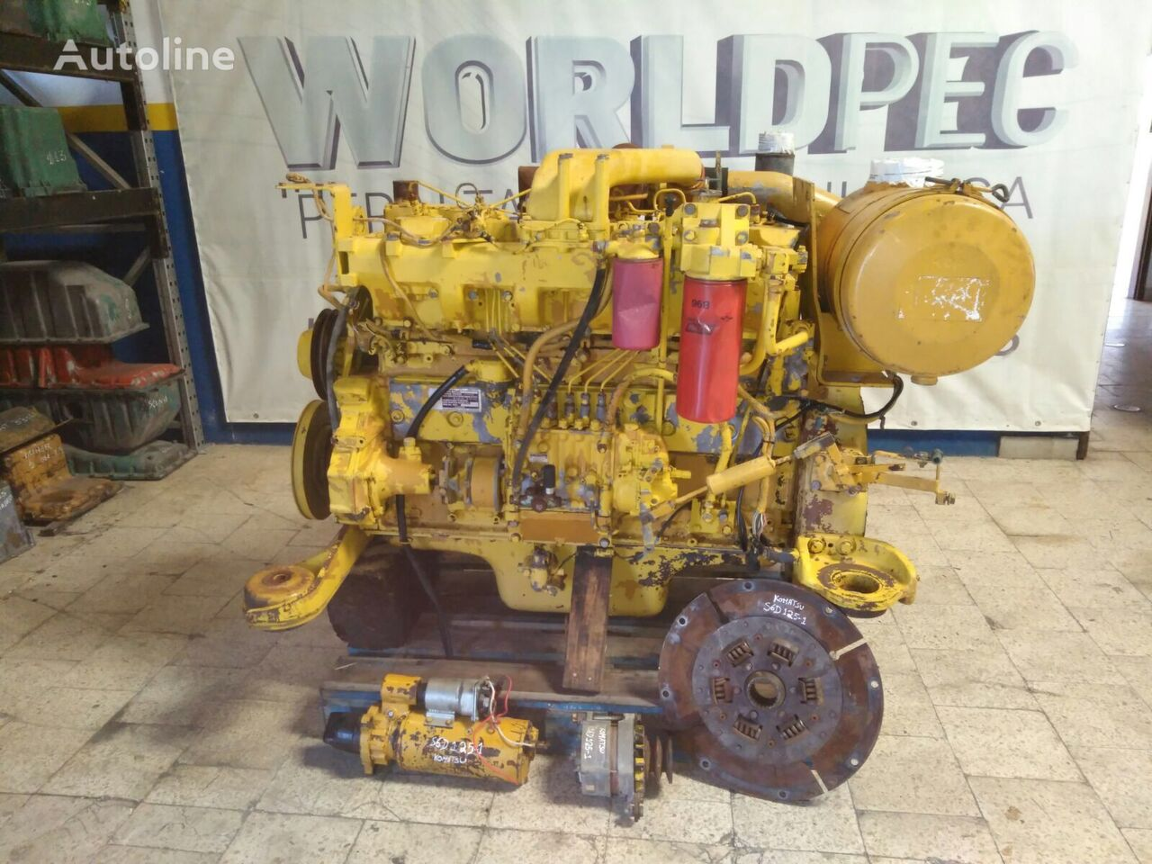 motor KOMATSU S6D125-1 Only in Parts para bulldozer