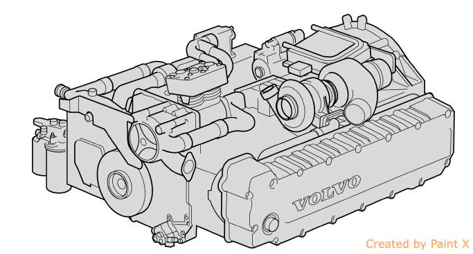 motor MarcDH12 C/D para autocarro VOLVO B12