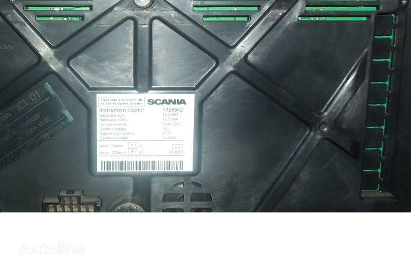 Scania R series instrument panel, instrument cluster, dashboard, 1725842 instrument cluster, 1507322, 1545985, 1545989, 1545993, 1763551, 1765222, 1849503, 1852891 painel de instrumentos para SCANIA R camião tractor