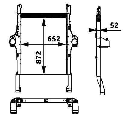 BEHR HELLA IVECO 41214448.8ML 376 724-251 radiador de água para IVECO STRALIS camião tractor novo