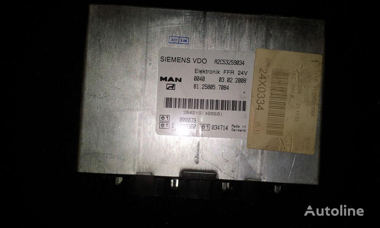 MAN FFR control unit, ECU, 81258057084, Siemens VDO, 81258057084, 81258057088, 81258057081, 81258057082, 81258057083, 81258057084, 81258057087, 81258057089, 81258057088 bloco de controlo para MAN TGX camião tractor