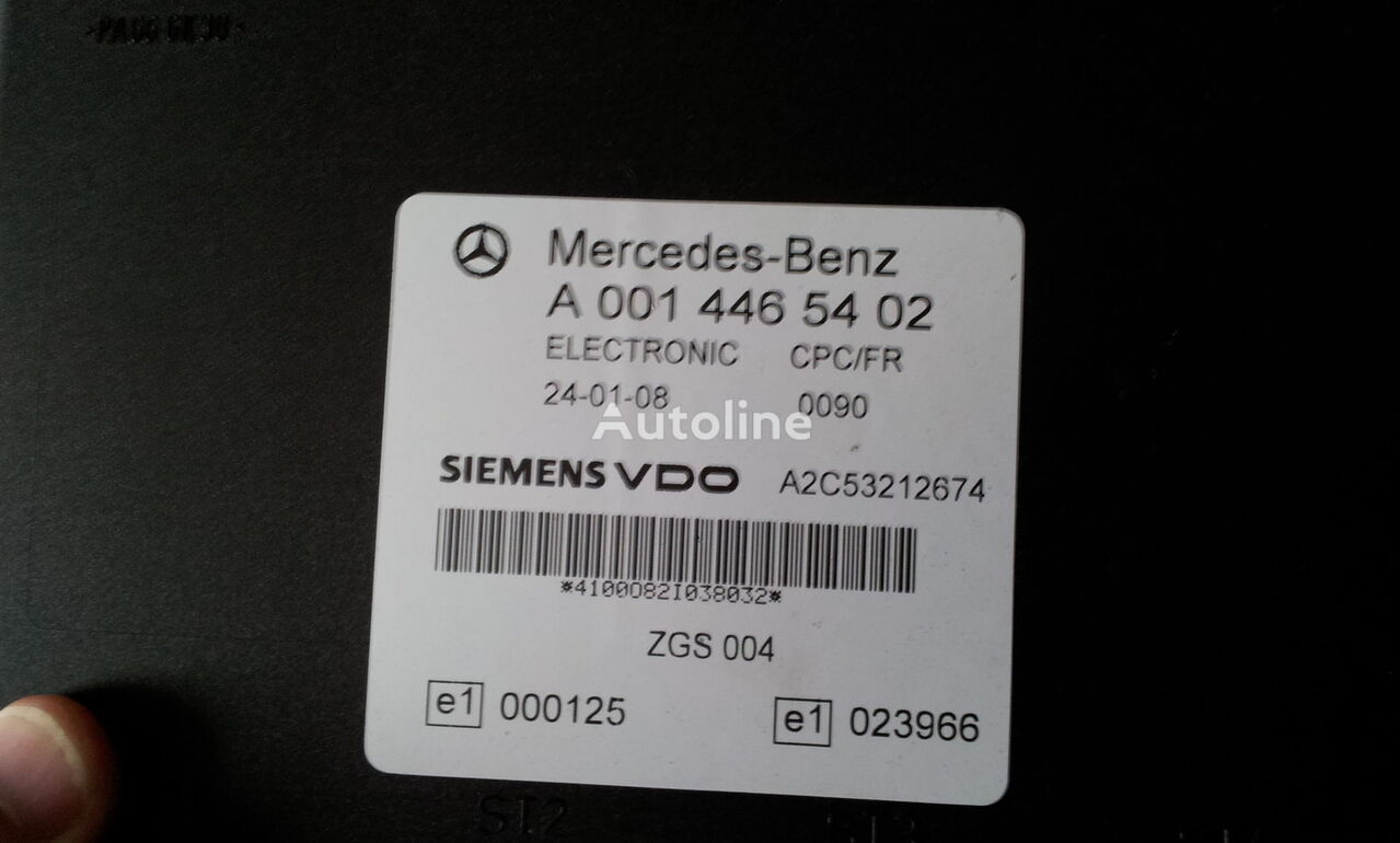 Mercedes Benz MP2 FR unit ECU 0014464102, 0014464102, 0004467502, 0014461002, 0014467402, 0004467602, 0004469602, 0014461302, 0014461402, 0014462602, 0014467002, 0014461902, 0014464102, 0024460102, 0014465402, 0024460402, 0014465702, 0024463502, 0014465702, 0024463802, bloco de controlo para MERCEDES-BENZ Actros camião tractor