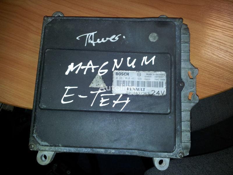 RENAULT engine computer EDC, ECU, 5010437363, BOSCH 0281010481 bloco de controlo para RENAULT Magnum E-TECH  camião tractor