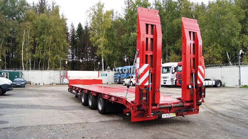 GRUNWALD Triaxial low bed semitrailer semi-reboque baixa novo