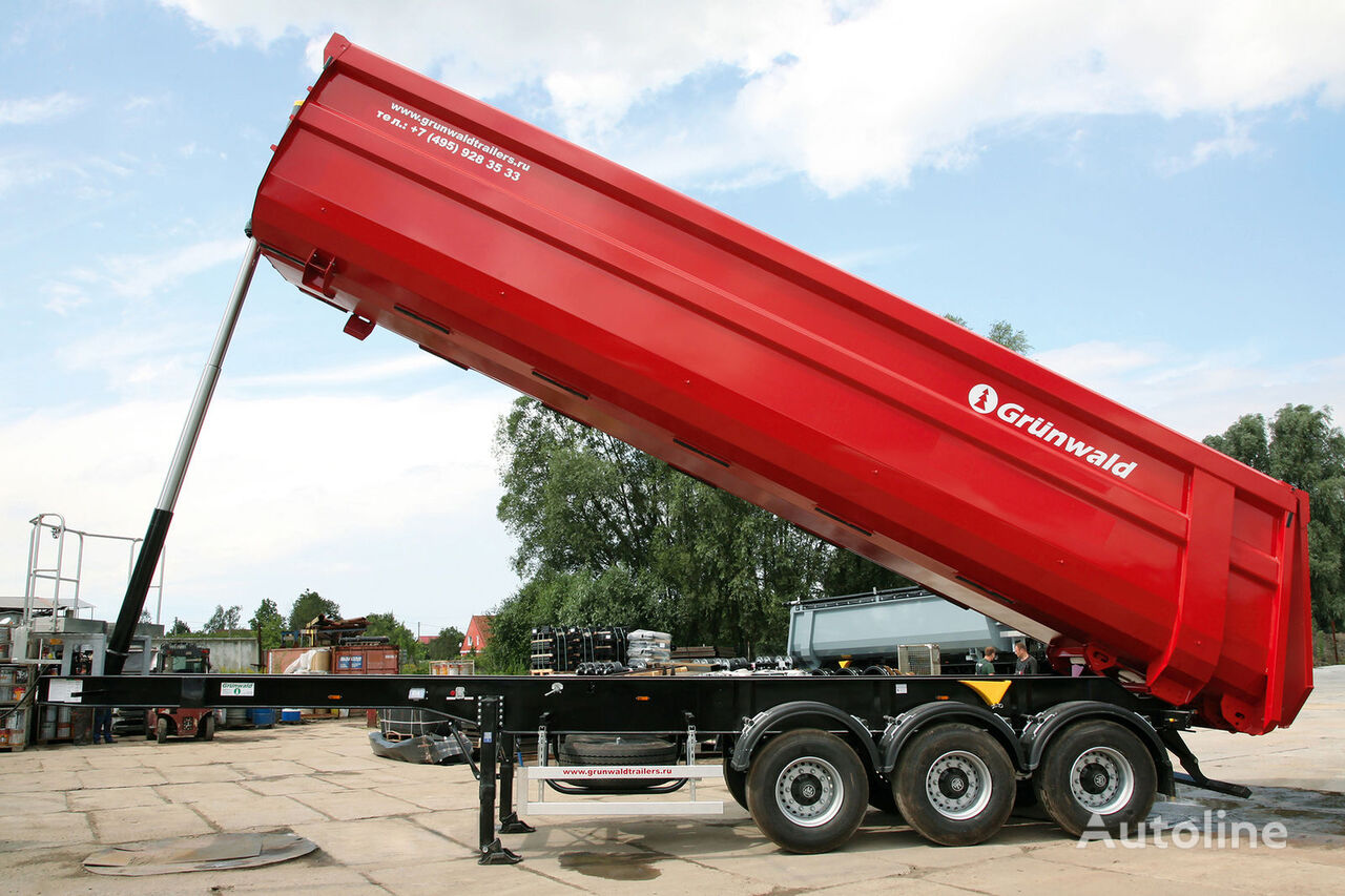 GRUNWALD Tipper semitrailer 50 cbm semi-reboque basculante novo