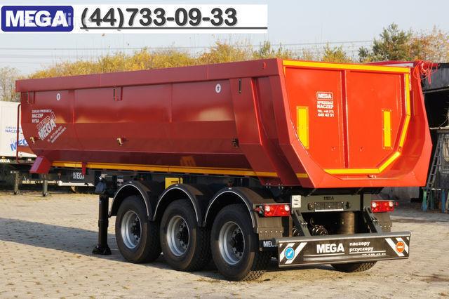 KARGOMIL 25 - 28 m³ HALF-PIPE / steel tipper - DOMEX 5/7 mm / SUPER STRON semi-reboque basculante novo