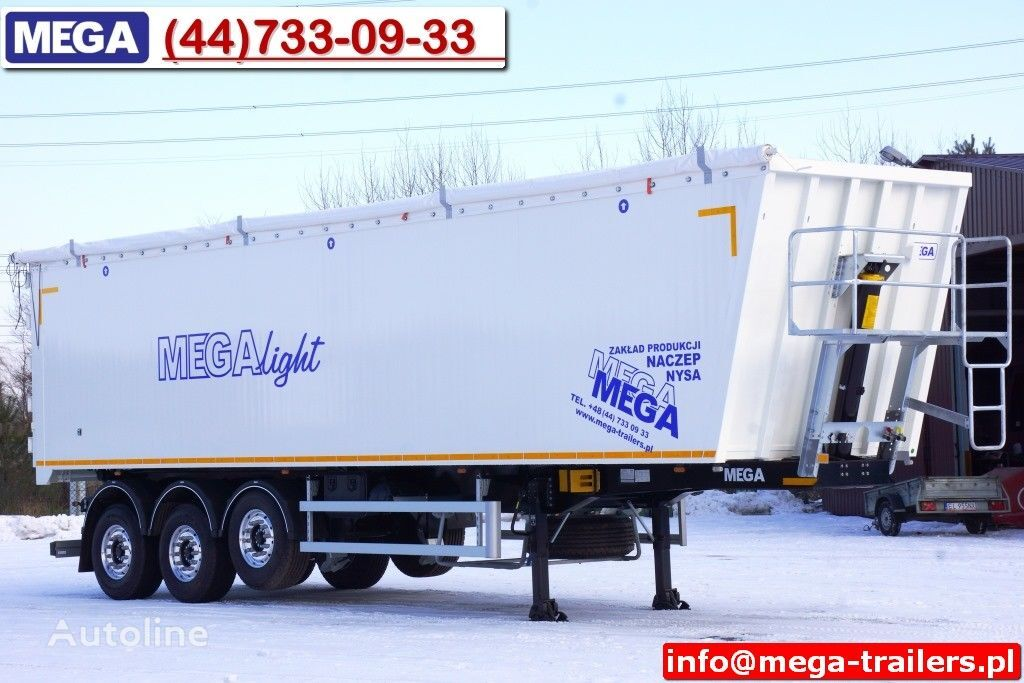 MEGA 10,4 m / 60 M³ ALUM TIPPER SUPER LIGHT 6,2 T ! READY & NEW ! semi-reboque basculante novo