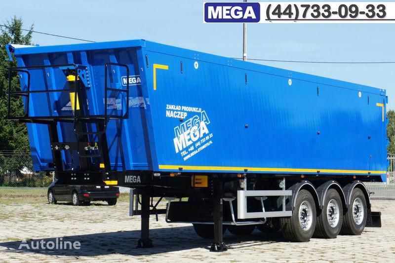 MEGA 45 m³ - alum. tipper SUPER-LIGHT - 5,300 KG & hatch door - READY semi-reboque basculante novo