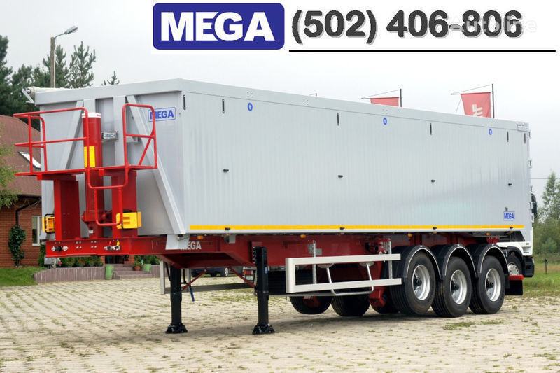 MEGA 50/11300 KD - camosval 50 kub., pama k tyagachu 6x4, VYSOTA 3,00 m semi-reboque basculante novo