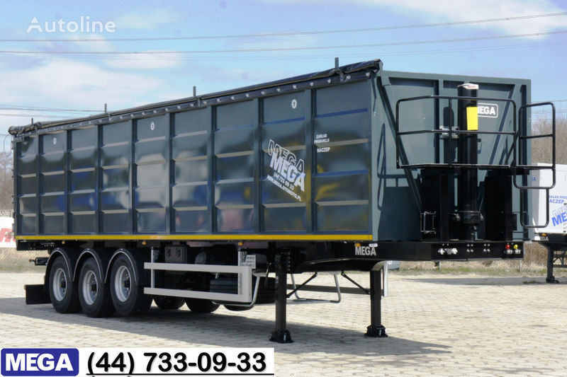 MEGA 55 M³ DOMEX/OPTIM 650 STEEL TIPPER / HATCH-DOOR & GRAINHOLES !! semi-reboque basculante novo