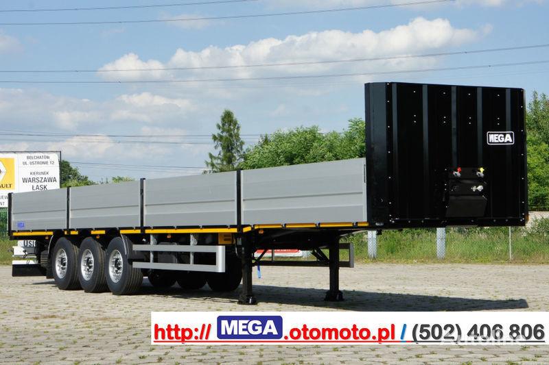 MEGA MNS 22,5 - PLATFORM & ALUSIDES 800 MM /  STRONG  FRAME DOMEX650 semi-reboque caixa aberta novo