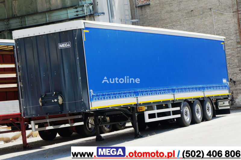 MEGA 3 AXEL CURTAINSIDER / ALUSIDES H=600 MM/ READY !  semi-reboque de toldo novo