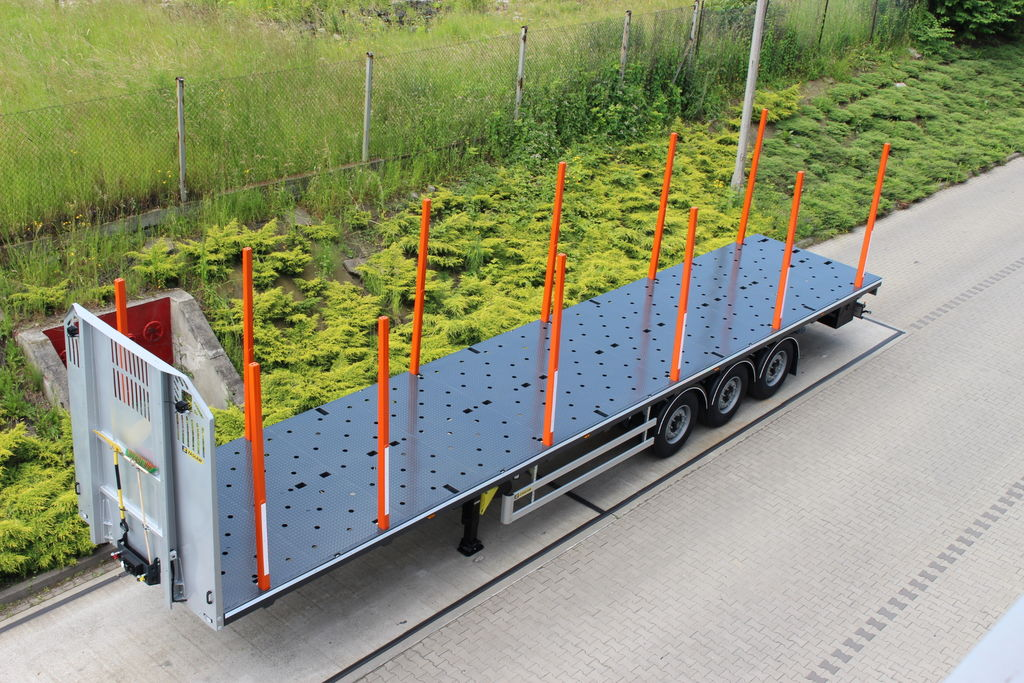 ZASLAW TRAILIS 651.NL.13.PK[without stakes] semi-reboque de transporte de madeira novo