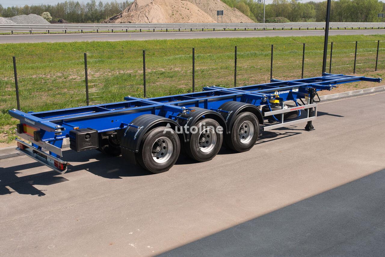 GRUNWALD Versatile heavy duty container semitrailer semi-reboque porta-contentores novo