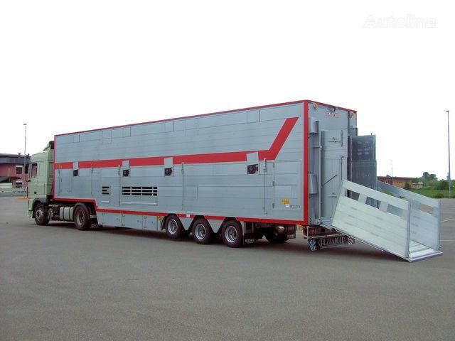 PEZZAIOLI SBA31 1+2 semi-reboque transporte animais novo