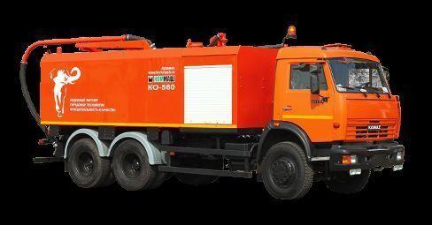 KAMAZ KO-560 camião combinado de limpeza de fossas
