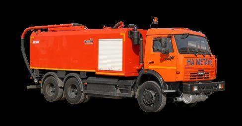 KAMAZ KO-560G camião combinado de limpeza de fossas
