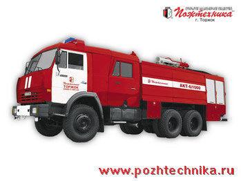 KAMAZ AKT-6/1000-80/20 Avtomobil kombinirovannogo tusheniya   carro de bombeiros