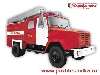 ZIL ANR-40-1400 Avtomobil nasosno-rukavnyy   carro de bombeiros