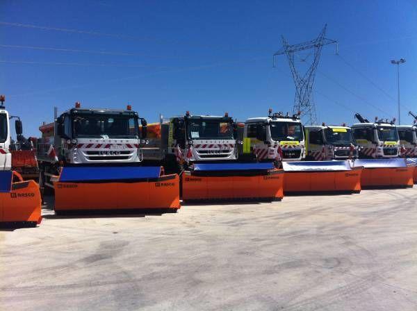 RASCO NEW truck 4x4+ spreader + snow plough + tipper box espalhador de areia